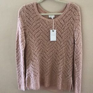 Lucky Brand NWT knitted lined sweater in rose